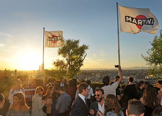 Uno degli eventi sul roof top della Terrazza Martini Milano.