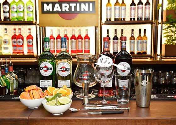 Alcuni ingredienti utilizzati durante le Martini Cocktail Experience