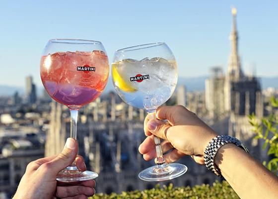 La vista sul Duomo di Milano dalla Terrazza Martini.
